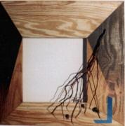 1988 'lege lijst 1' mixed-media 65.5x65.5cm