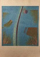"1988 ""huid"" 100/70cm monoprint"