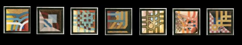 5x5 projekt 1979/81 50x50 cm olieverf/linnen/hout