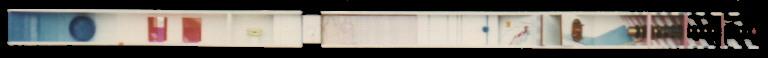 1980 'balk 1' 9x145x8.5 olieverf/hout/div.mat.