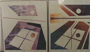 1988 'tijdmachine 1 en 2' 70x90cm monoprint