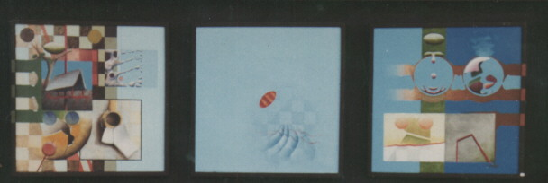 1976? 'zomer' 71x194x7cm olieverf/linnen/hout