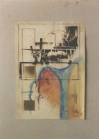 1989 'douche2' 60/45cm print/paint